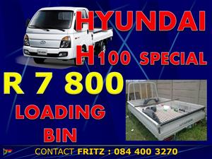 H100 Loading bin, complete doors & front diff and suspension - TOYPART SA
