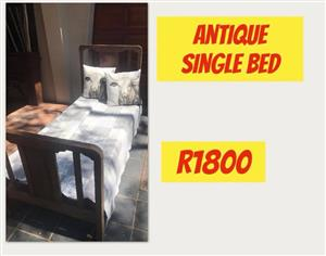 Antique wooden single bed for sale