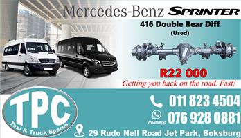 Mercedes Sprinter 416 Diff - Used - Quality Replacement Taxi Spare Parts.