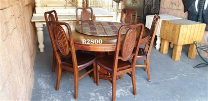 Classic Dining Table with 6 Chairs (D1525 H785)