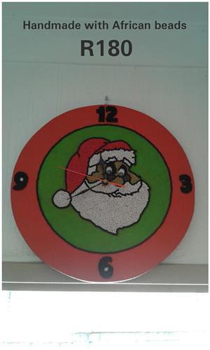 Santa handmade wall clock for sale