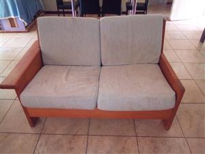 Huge L shape couch and glass tables