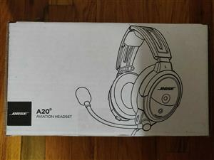 Bose A20 Aviation Headset Bluetooth Dual Plug