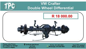 Vw Crafter Double Wheel Differential For Sale.