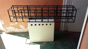 Mild steel wine bottle racks and mild steel trunk