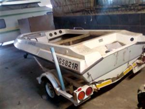 Project boat with trailer