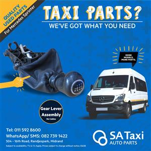 Gear Lever Assembly - no cables - for Mercedes Sprinter 515, 519, 518, 651- SA Taxi Auto Parts quality used spares