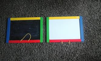 Kiddies chalk drawing boards
