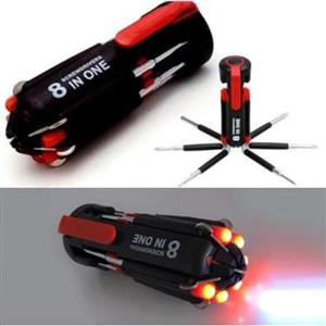 8-in-One Multi-Screwdriver with Torch