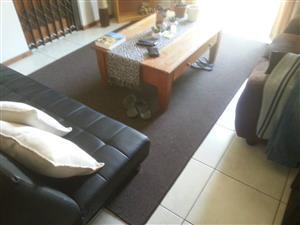 3m x 2m carpet brown