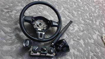 Polo vivo street leather steering gear knob handbrake set