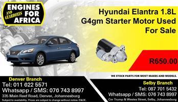 Hyundai Elantra 1.8L G4gm Starter Motor Used For Sale.