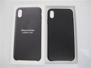 iPhone Xs Max Original Leather Case – Black UNUSED