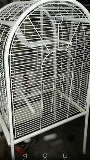 white parrot cage...