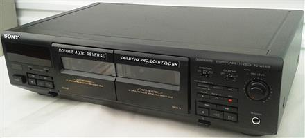 Sony TC-WE405 Recordable Stereo Double Cassette Tape Deck With Auto Reverse and Dolby HX Pro