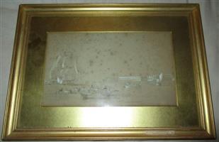 Sketch by J.W.Carmichael . make an offer