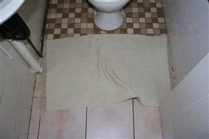 Beige bathroom mat for sale