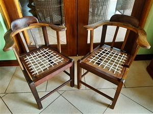 Antique riempie chairs