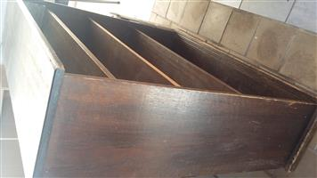 old wooden book shelf