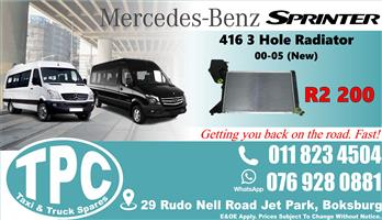 Mercedes Sprinter 416 3 Hole Radiator 00-05 - New - Quality Replacement Taxi Spare Parts.