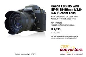 Canon EOS M5 with EF-M 18-55mm f/3.5-5.6 IS Zoom Lens