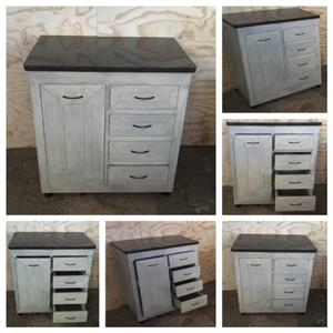 Kitchen Cupboard Base unit Farmhouse series 900 Grey washed