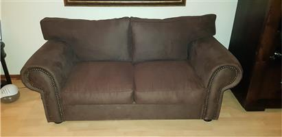 Stunning Mock Suede 2 Seater Couch For Sale