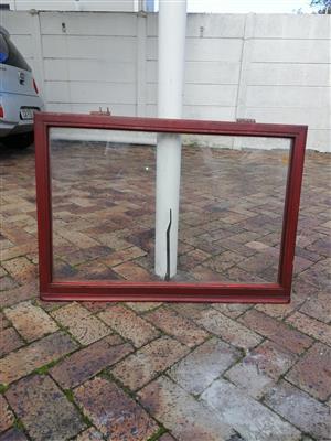 SASH WINDOWS WITH GLASS AND HANDLES