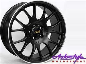 19 inch BSS Matt Black Alloy Wheels 5-112 pcd BBS SIMILAR DESIGN
