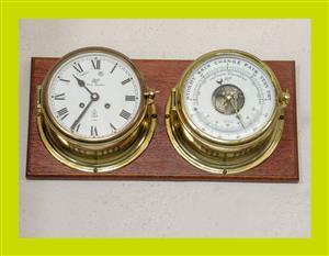 Vintage Schatz Royal Mariner 8 Bell Clock and Barometer - SKU 843
