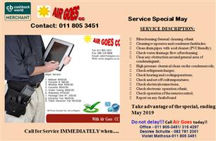 Service of Air conditioning units