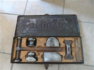Original Antique/Vintage Gedore No250 panel beaters set with steel case for sale