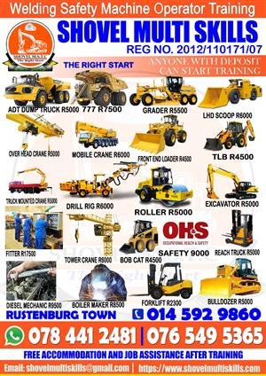 Mobile Crane and Safety Courses Training +27765495365 +27734470170 Shovel MSTC Rustenburg