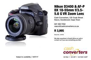 Nikon D3400 & AF-P DX 18-55mm f/3.5-5.6 G VR Zoom Lens