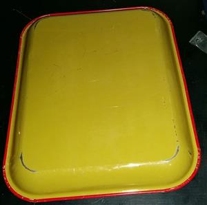 Yellow serving tray