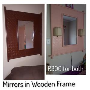 Mirrors in Wooden Frame