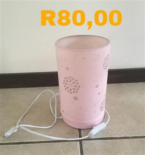 Pink shaded lamp for sale