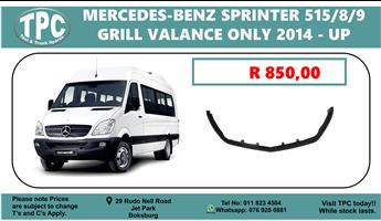 Mercedes-Benz Sprinter 515/8/9 GRILL VALANCE ONLY 2014 - up - For Sale at TPC