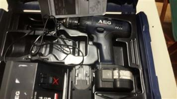 Cordless Drill - A.E.G set with two batteries and charger
