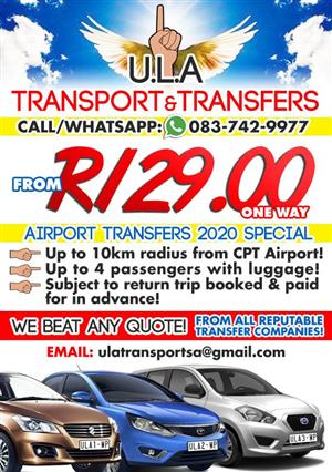 Safe, Reliable Transport and Airport Transfers - ULA TRANSPORT SA