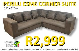 PERILLI ESME CORNER LOUNGE SUITE - SPECIAL - ONLY R2,999