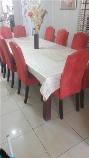 10 Piece Suede Dining Room Suite Set