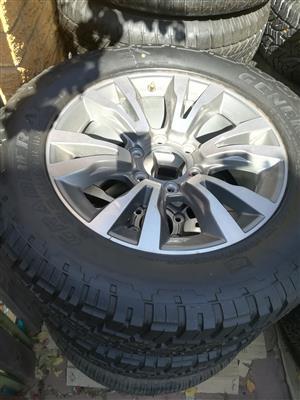 One Brand New Isuzu X-Rider 18 inch Spare Wheel with General Grabber Tyre R3950
