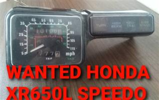 Honda XR650L Speedo Wanted