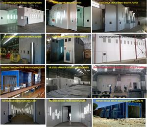 SPRAY BOOTHS local manufacture-Small to large-Open face dry wall -Extract systems-Most affordable in SA . Monthly payment options .
