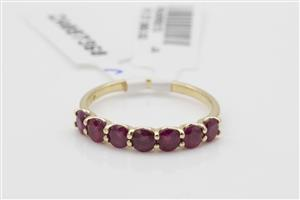 14K YELLOW GOLD RUBY ETERNITY RING - BUY IT NOW!
