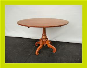 Antique Oval Fruit Wood Tilt Top Occasional Table - SKU 450