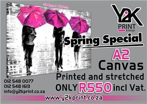 Canvas Special! Make your place your own with Y2K-Print & Design