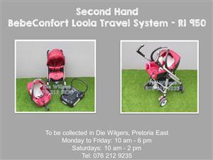 Second Hand BebeConfort Loola Travel System