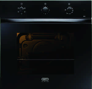 Defy Slimline 600mm Under Counter Oven and 4 plate hob and cooker hood